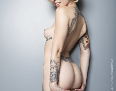 Alysha Nett photographed naked for Front Magazines by Christian Saint.