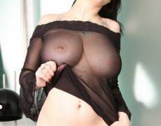 Jennique Adams en lencería transparente (12)