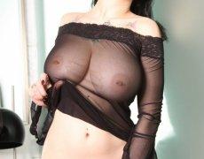 Jennique Adams en lencería transparente (13)