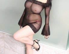 Jennique Adams en lencería transparente (2)