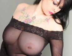 Jennique Adams en lencería transparente (3)