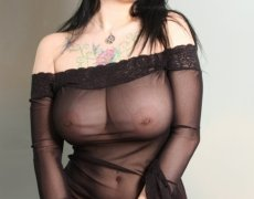 Jennique Adams en lencería transparente (4)