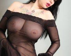 Jennique Adams en lencería transparente (5)