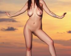 Elizabeth Marxs abriendo las piernas en la playa (30)