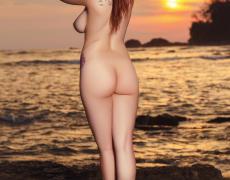 Elizabeth Marxs abriendo las piernas en la playa (9)
